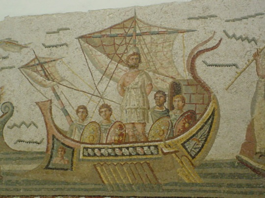 Mosaic at the Bardo Museum in Tunis, Tunisia
