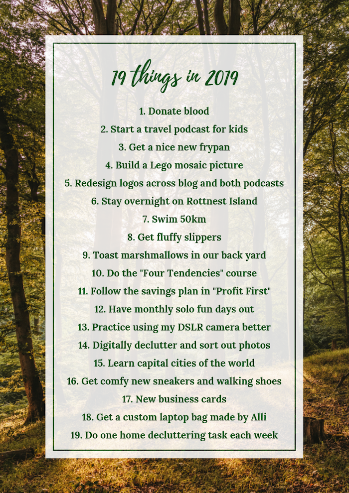 Amanda Kendle's 19 things to do in 2019