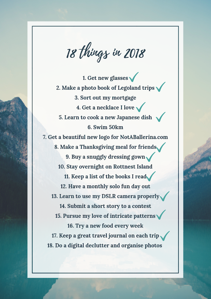 How my 18 things in 2018 list went