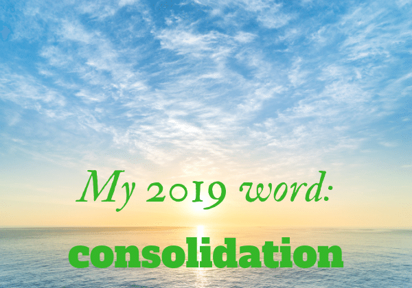 2019 business word - consolidation
